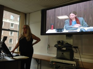 Linda Layne presents, whilst Andrea Doucet joins via Skype as discussant