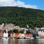 Bergen harbour by Colourbox