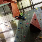Lead climbing at the Reach London