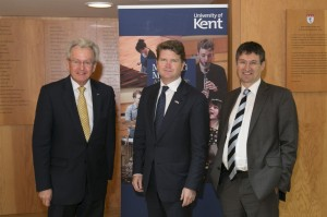 From left - Deputy VC Prof Keith Mander, Ambassador Barzun, Prof Whitman