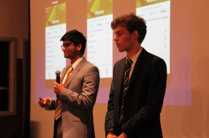 Cesare and Rayyan presenting the project at Virginia Tech, USA