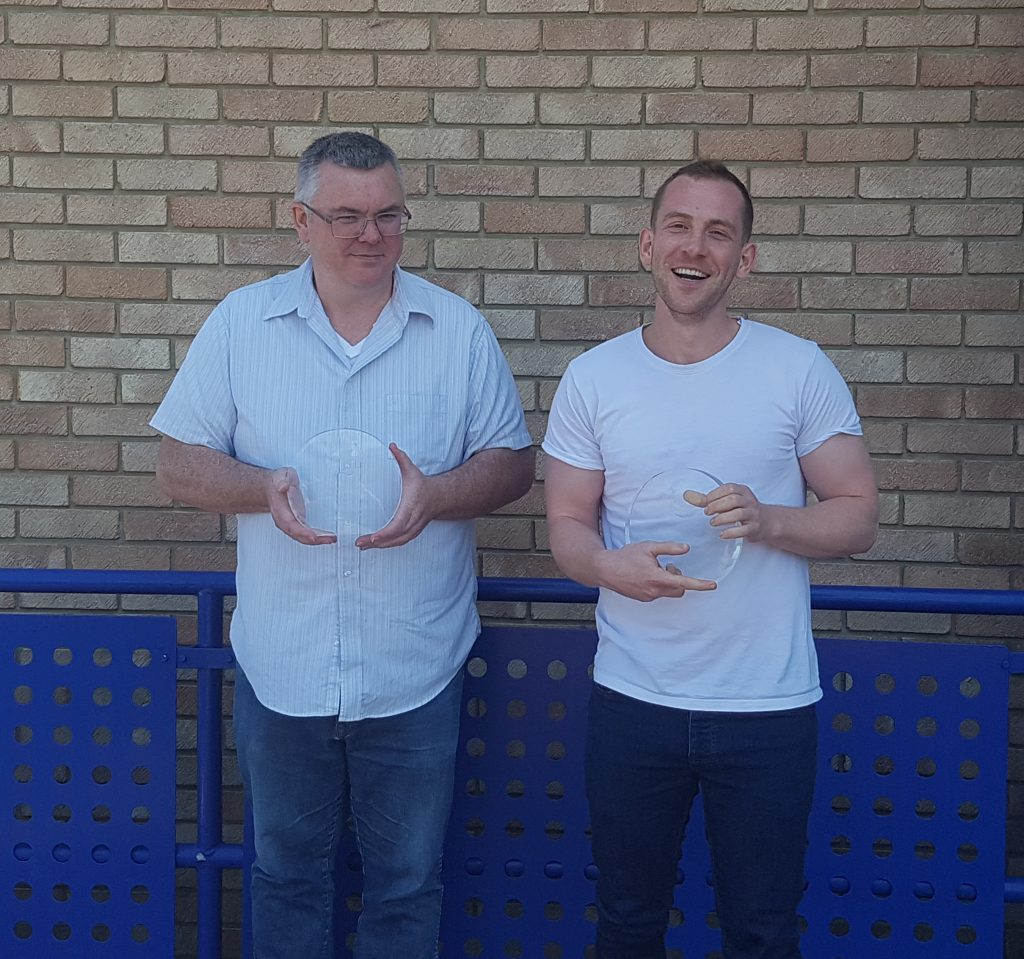Dr Sean Molloy and Tom Watts BISA prize winners