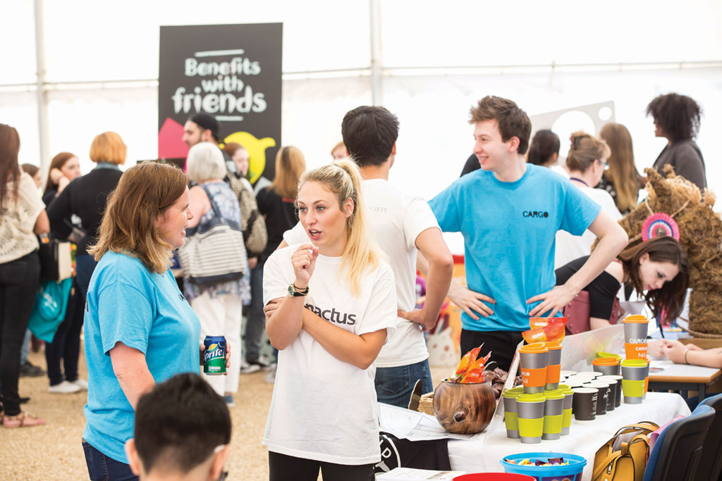 New students mingling with current ones at last year's in-person Fresher's Fair