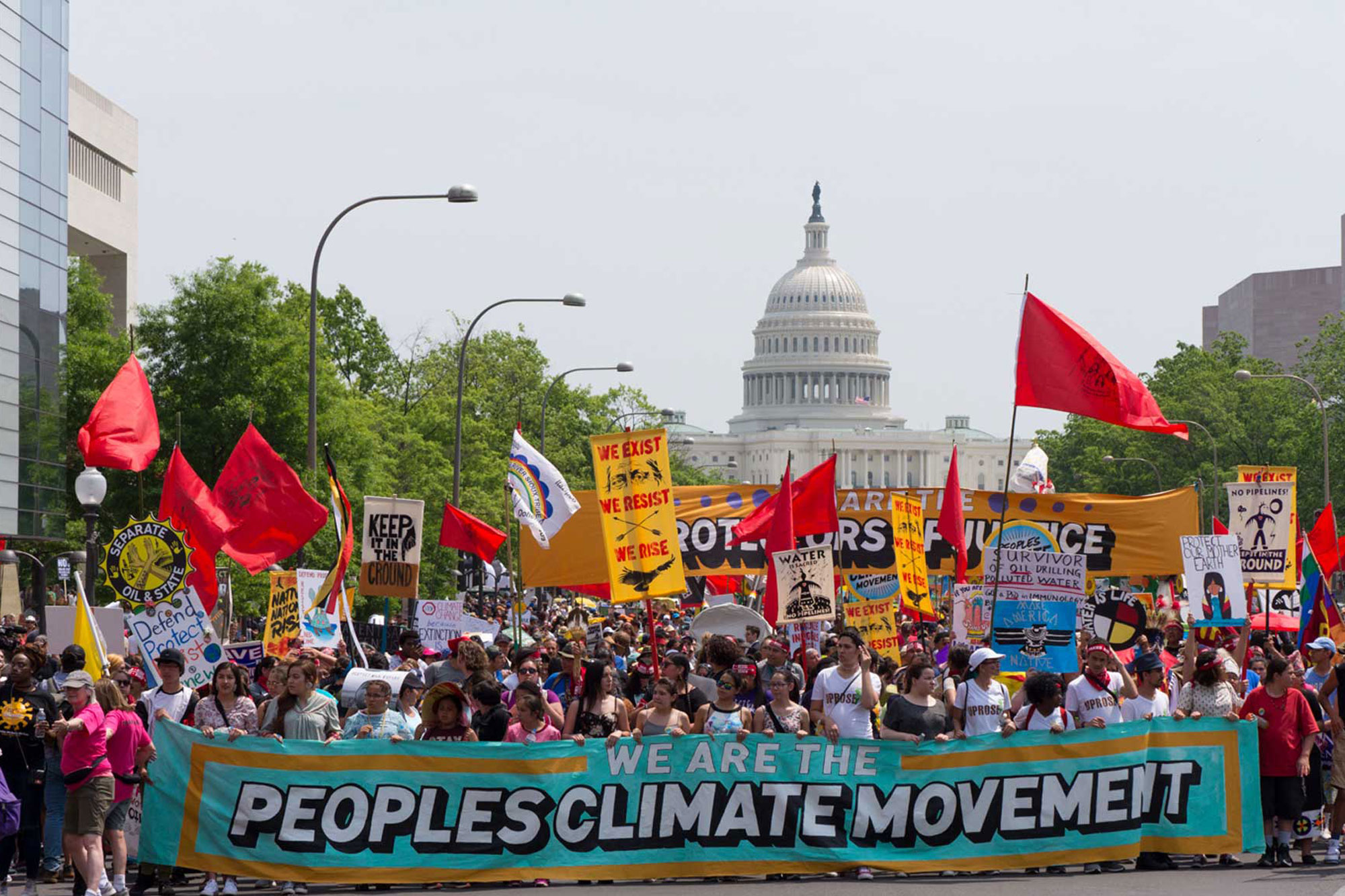 Climate march in Washington DC, 2017