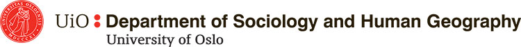 University of Oslo: Department of Sociology and Human Geography logo