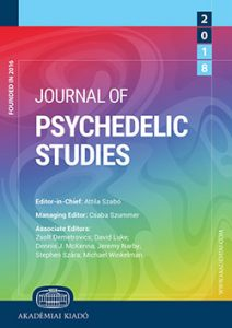 Cover of the Journal for Psychedelic Studies that the article appears in