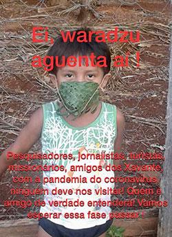 Xavante girl with woven mask