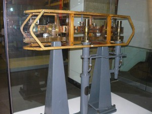 Caesium Atomic Clock 1955 on display in the Science Museum, London, England.