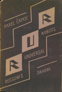 First Edition cover of Rossum's Universal Robots