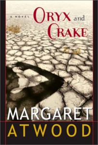 First edition cover of Margaret Atwood's Oryx and Crake (2003)