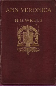 First edition cover of H. G. Wells' Ann Veronica (London, Virago, 1909)