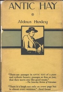 First edition cover of Aldous Huxley's Antic Hay (London, Chatto & Windus, 1923)