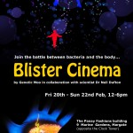 A poster for Genetic Moo's 'Blister Cinema' at GEEK