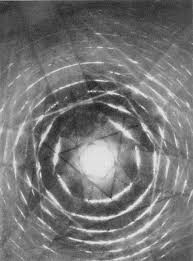An image of convergent beam electron diffraction.