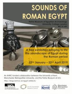 poster for sounds of Roman Egypt exhibition