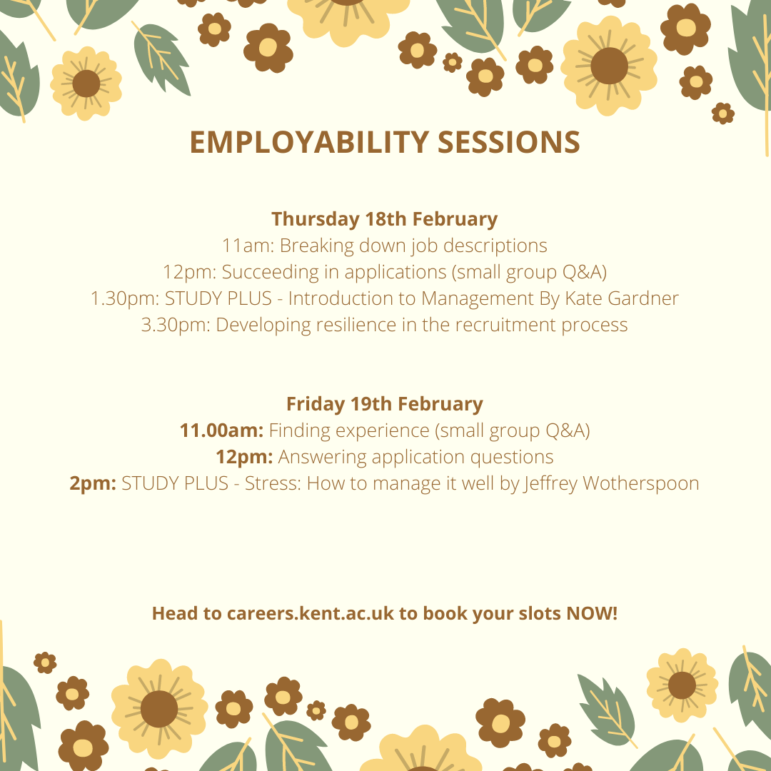 Careers events 18-19 Feb