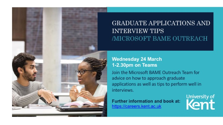 Graduate Applications and interview tips poster
