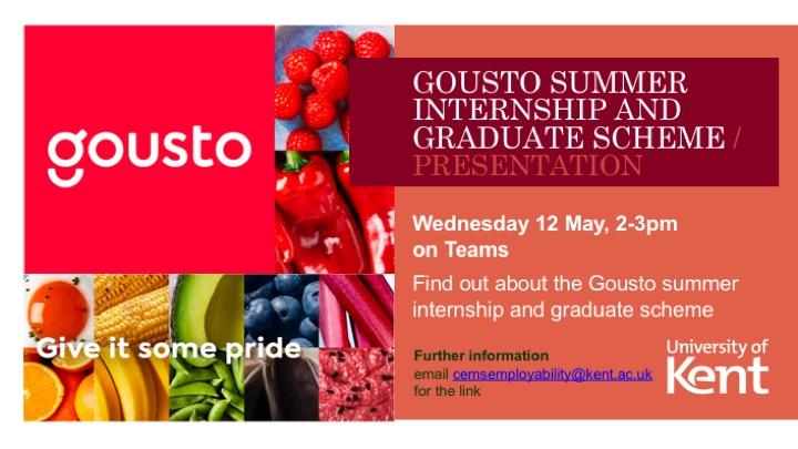 Gousto presentation poster