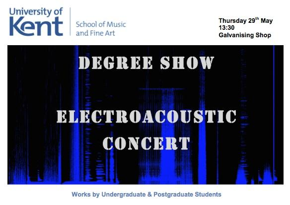 Degree Show Electroacoustic Concert