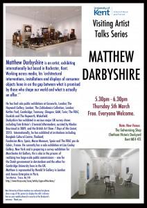 Matthew Darbyshire Visiting Artists Talk 5th March 5.30pm SMFA