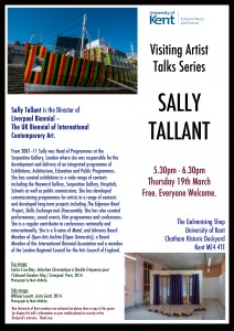SALLY TALLANT Visiting Artists Talks Series SMFA Univ of Kent.
