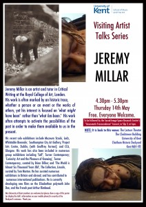 Jeremy Millar Poster