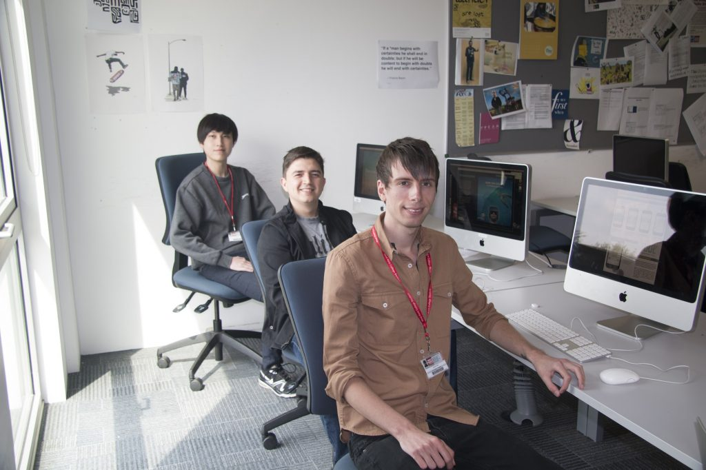 Three of the Design Factory Winners - L-R James Li - Ricardo Olmos - Jonathan White -