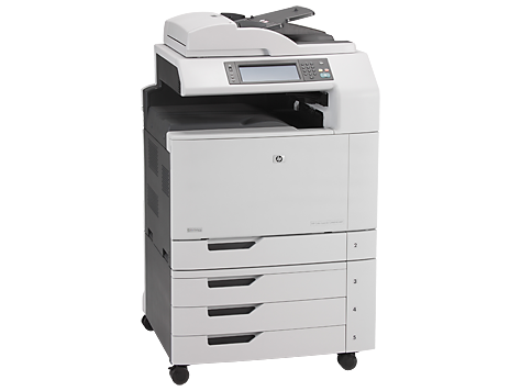 HP E87640dn printer, used in SMSAS on floors 0, 2, and 3