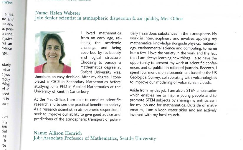"""""""Successful Mathematician"""" – SMSAS Alumna Featured in London Mathematical Society Newsletter"""