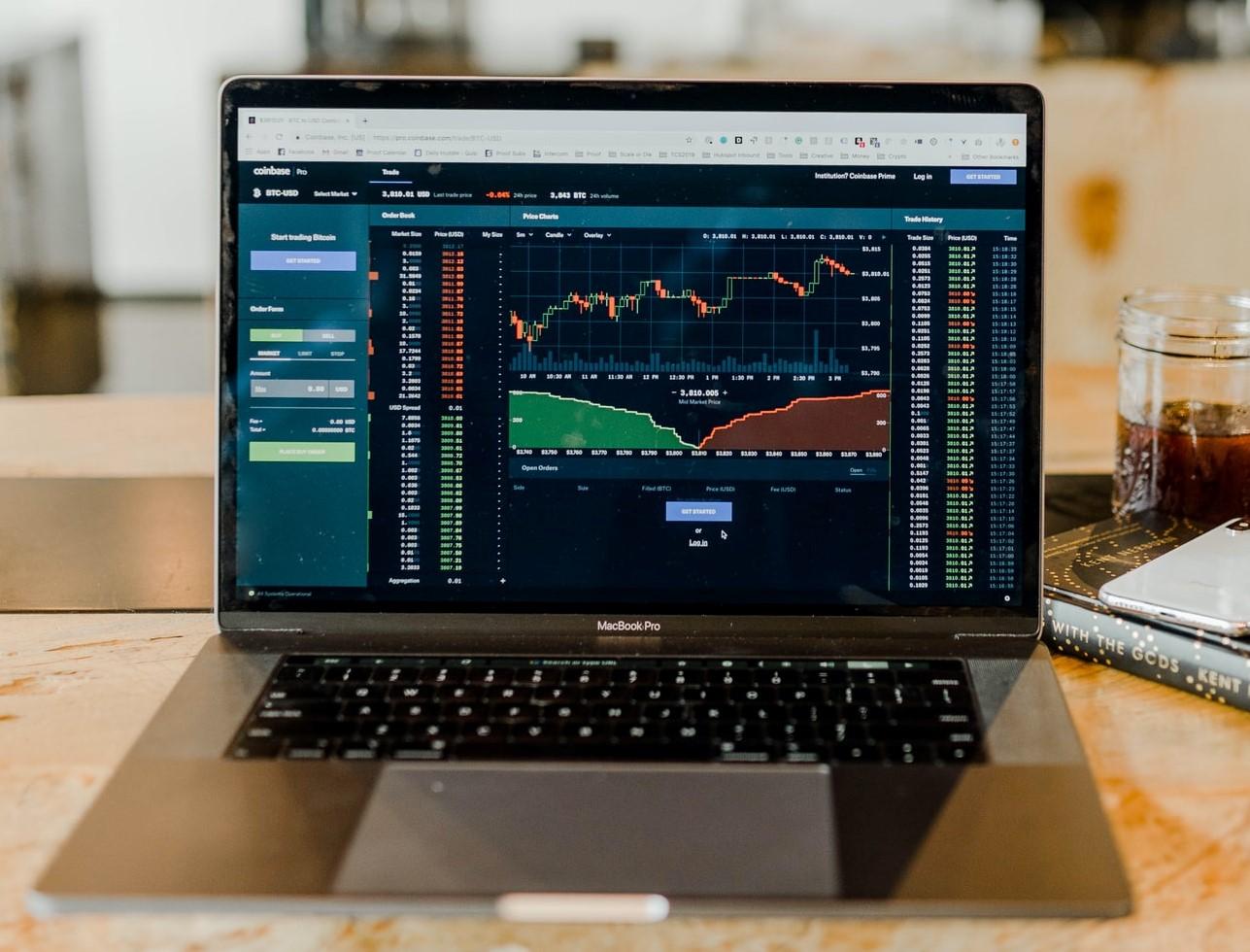 Data on laptop screen