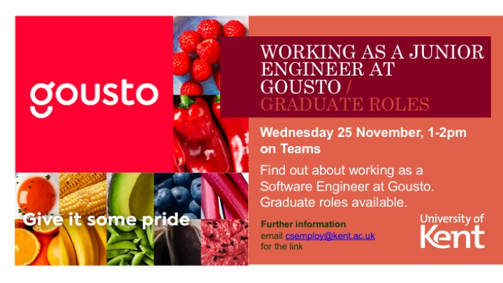 Working as a Junior engineer at Gousto