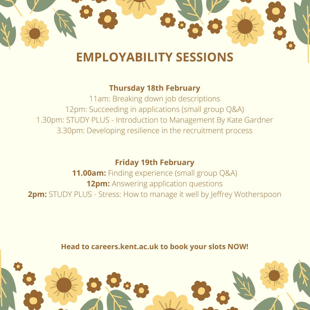 Careers events 18-19 Feb