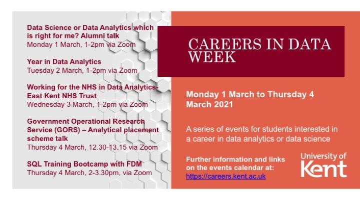 Careers in Data week poster