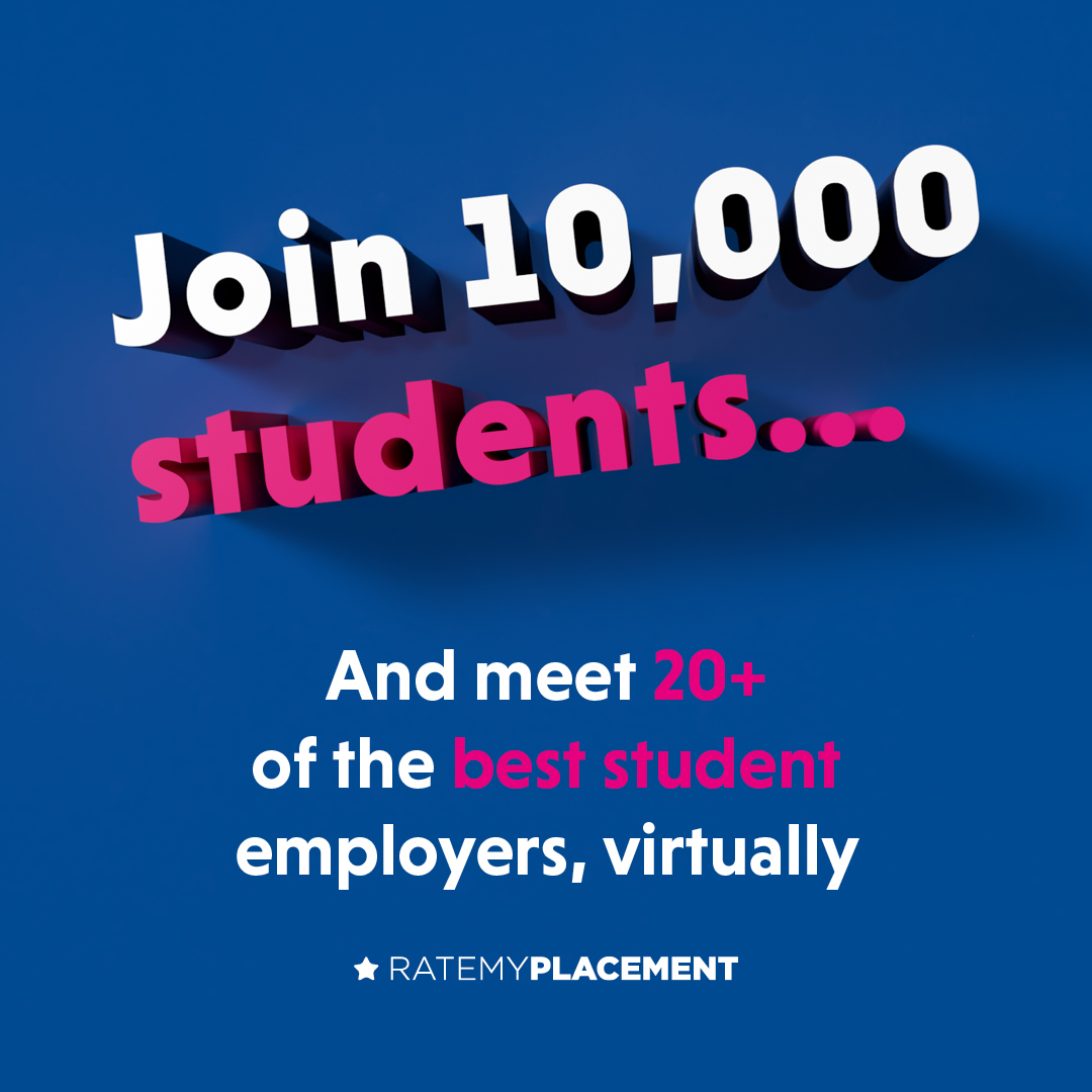 Virtual careers events poster