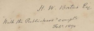 Publisher's note to H.W. Bates