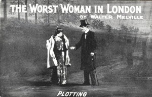 Publicity postcard for The Worst Woman in London