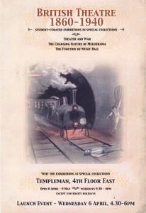 British Theatre 1860-1940 Exhibition Poster
