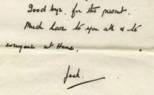 Jack's signature