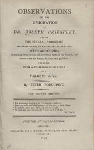 Titlepage from Observations on the Emigration of Dr. Priestley