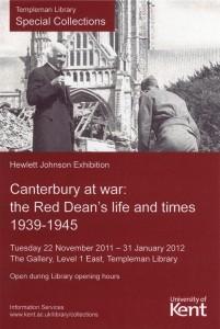 'Canterbury at War' flyer