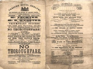 Playbill for 'No Thoroughfare', 1868