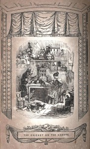 Illustration from 'The Cricket on the Hearth' adapted by Edward Stirling, firast performed at the Adelphi Theatre