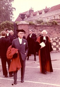 Shirley and Johnson on Speech day, 1962