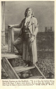 Sir Martin Harvey as Sidney Carton in 'The Only Way' c.1899