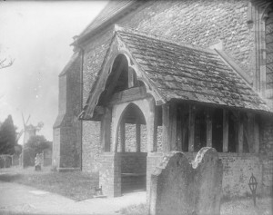 Image of a church porch from the W.B. Muggeridge Collection