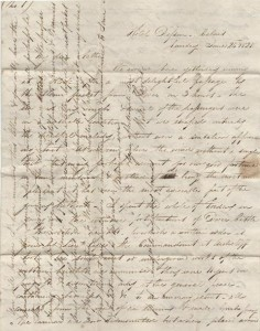 First page of William's letter