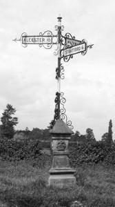 Signpost in Norton Lindsay, Warwickshire