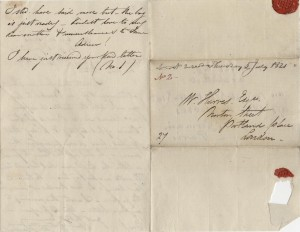 William's letter from St. Germain