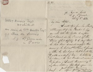 William's letter from St Germain