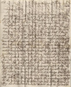 William usually over-wrote his letters to make the most of available paper